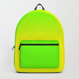 Neon Green and Neon Yellow Ombré  Shade Color Fade Backpack