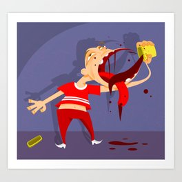 Taste not so good Art Print