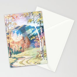 Paint by Number Road to the Mountains Stationery Cards