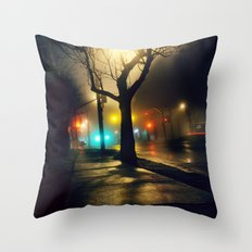 Nebula Tree Throw Pillow