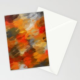orange black and red kisses lipstick abstract background Stationery Cards