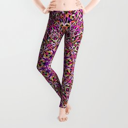 Colorful Girly Lace Garden Mandala Leggings