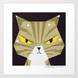 #30daysofcats 13/30 Art Print
