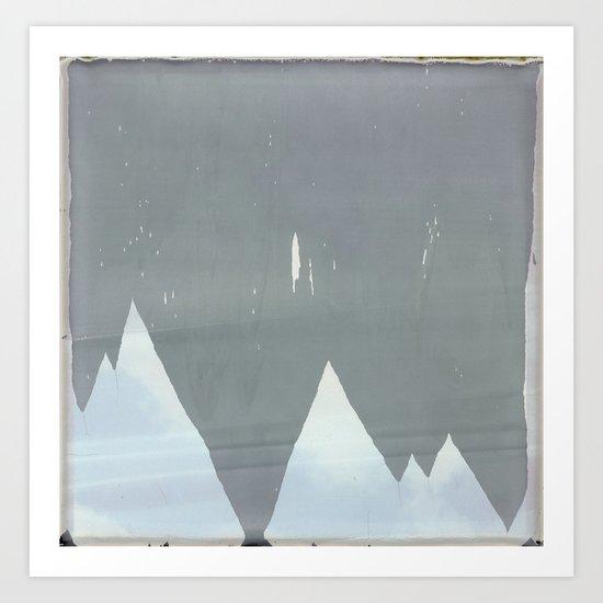 Icy Peaks Art Print