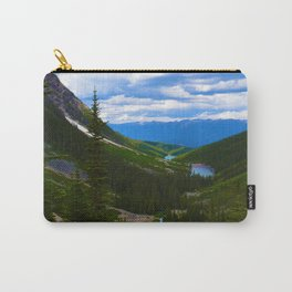 Looking over lower Geraldine Lakes in Jasper National Park, Canada Carry-All Pouch