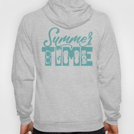 Summer TIME at the Pool Teal Hoody
