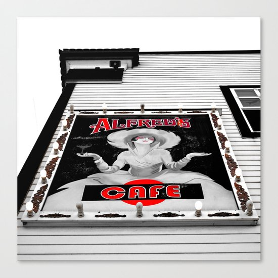 Classic cafe sign Canvas Print