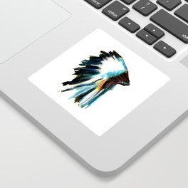 Indian Headdress Native America Illustration Sticker
