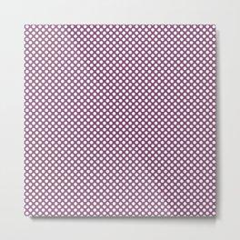 Amethyst and White Polka Dots Metal Print