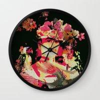 frida Wall Clocks featuring Frida by Fernando Vieira
