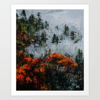 twin peaks Art Prints featuring Twin Peaks  by Olga Krokhicheva