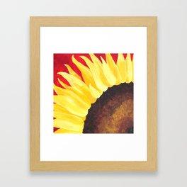 Sunflower on Red #1 Framed Art Print