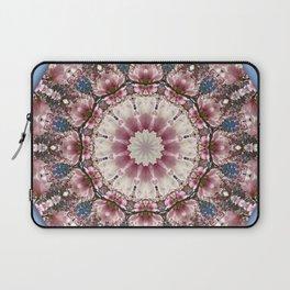 Spring blossoms, Flower Mandala, Floral mandala-style Laptop Sleeve