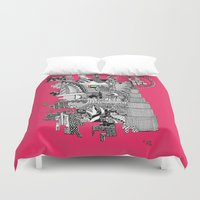 wiz khalifa Duvet Covers featuring Dubai pink by Rebecca Bear
