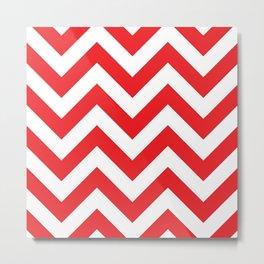 Large chevron pattern / red Metal Print
