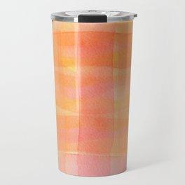 Orange check pattern Travel Mug