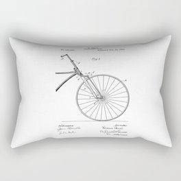 patent art Bell Velocipede fork 1890 Rectangular Pillow