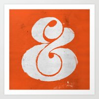 ampersand Art Prints featuring Ampersand by Andrei Robu