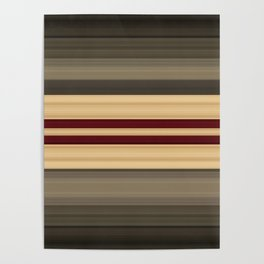 Rich Gold Burgundy Stripes Poster