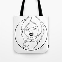 tiffany Tote Bags featuring Tiffany by Albino Bunny