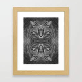 Ginger, in reflection and B&W Framed Art Print