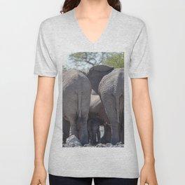 Elephant Love 4 Unisex V-Neck
