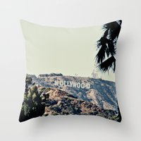 hollywood Throw Pillows featuring Hollywood  by sam may create.