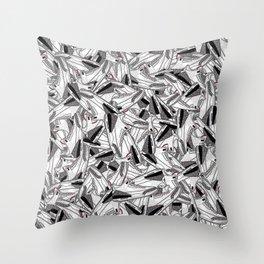 Air Jordan 3 White Cement - Collage Print Throw Pillow