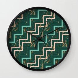 Marbling zigzag Wall Clock