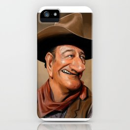 John Wayne Caricature iPhone Case