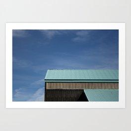 Blue Roof Art Print