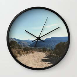 Lonely Road in the Desert Wall Clock