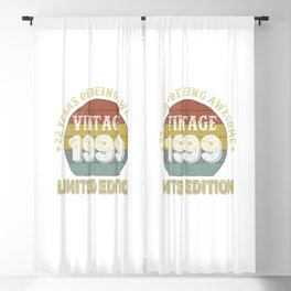 22 Year Old Gifts Vintage 1999 Limited Edition 22th Birthday Blackout Curtain