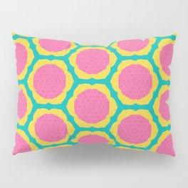 Abstract Pink and Yellow Pitaya Fruit Pattern Pillow Sham