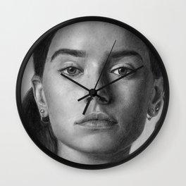 Daisy Ridley Portrait Wall Clock