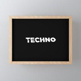 Techno sliced Framed Mini Art Print