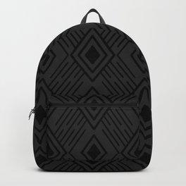 Dark grey and black Tribal Diamond Grid Backpack