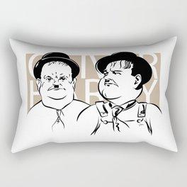 Face Olivers Hardy Rectangular Pillow
