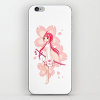 sakura iPhone & iPod Skins featuring Sakura by Freeminds