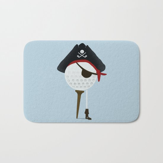 Pirate of the Open Tees Bath Mat