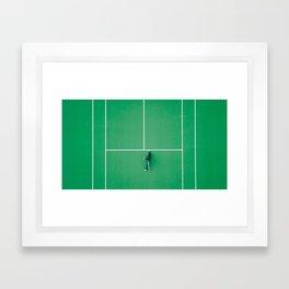 Tennis court green Framed Art Print
