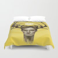 true detective Duvet Covers featuring Notice King | True Detective by Alejo Malia