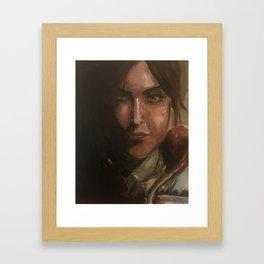 Lara Croft oil painting Framed Art Print