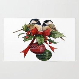 Vintage, Beautiful Christmas Birds Rug