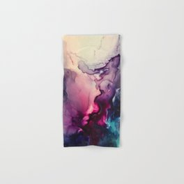 Mission Fusion - Mixed Media Painting Hand & Bath Towel