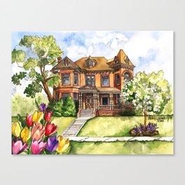 Queen Anne Mansion Canvas Print