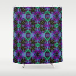 Tryptile 27b (Repeating 1) Shower Curtain