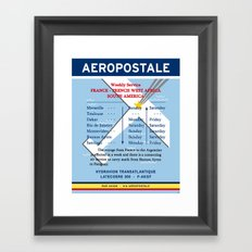 Aeropostale Mermoz Saint-Exupery Latecoere Vintage Decoration Print Posters Framed Art Print