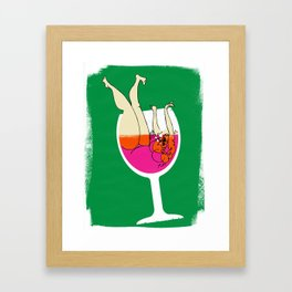 Drink Responsibly - Don't Spill your Drink Framed Art Print