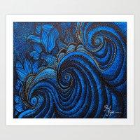 The  Sea Mermeids Night Art Print